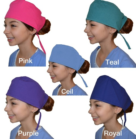 Kids Scrub Caps
