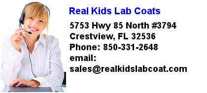 Contact Real Kids Lab Coats